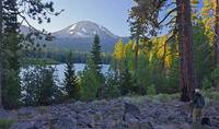 Photographing Lassen Peak & Manzanita Lake sunset
