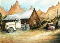 Ghost Town Nevada - Watercolor Painting