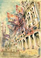 Brussels Grand Place - Watercolor Painting