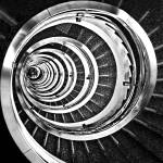 """Spiral Staircase in Black and White"" by CarlosAlkmin"
