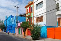 Colorful Houses at Bixiga - Sao Paulo, Brazil