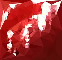 Coquelicot Red Abstract Low Polygon Background