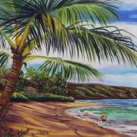 Stroll Along the North Shore in Hawaii Art Prints & Posters by Jenny Floravita