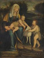 Lombard painter, 16th century Madonna with the Chi
