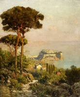 Oswald Achenbach, View of the Bay of Naples