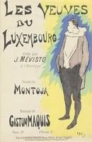 Sheet Music Les veuves du Luxembourg by Montoja an