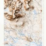 """Mount Katahdin, Maine (1930) with map border"" by davecatts"