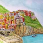 """""""Cinque Terre Italian Riviera"""" by FradetFineArt"""