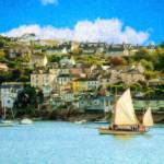 """Sailing In At Fowey Cornwall - PMP1613081"" by rdwittle"