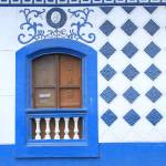 """Brown Window in a Blue Wall"" by rhamm"