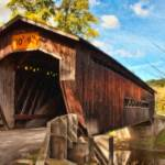 """Benetka Road Covered Bridge - PMP00906"" by rdwittle"