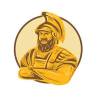 King Agamemnon Arms Crossed Circle Drawing