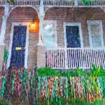 """New Orleans Mardi Gras Bead House"" by RebeccaKorpita"