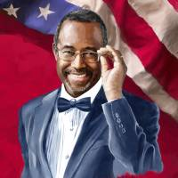 Dr. Ben Carson wFlag Art Prints & Posters by Tim Beasley