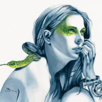 Snake Totem Art Prints & Posters by Michelle Tracey