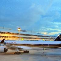 Singapore Airport Before SunriseWithA350-9009V-SMB Art Prints & Posters by Joao Ponces de Carvalho