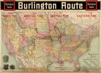 Chicago, Burlington Route system map, 1892. Burlin