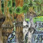 """Everglades Igret by Vicki Maturo"" by Lamp_ArtProject"