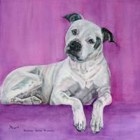 Custom Portrait of Maddie Art Prints & Posters by Anna Borsos Ruzsan