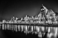 Gdansk at night BW