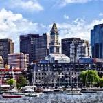 """Boston MA - Skyline With Custom House Tower"" by susansartgallery"
