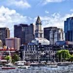 """Boston MA - Skyline With Custom House Tower"" by susansartgallery"