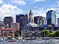 Boston MA - Skyline With Custom House Tower