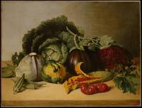 Still Life Balsam Apple and Vegetables