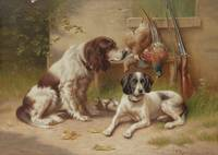 Carl Reichert (Vienna 1836-1918 Graz) Hounds guard