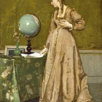 """Alfred Stevens, (1823 -1906) , Portrait of a lady"" by motionage"