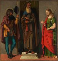 Three saints Roch Anthony Abbot and Lucy by Cima d