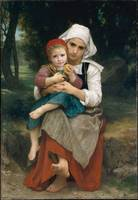 William-Adolphe Bouguereau, Breton Brother and Sis