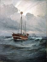 Carl Locher - The lightship at Skagen Reef