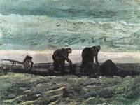 Two farmers in peat, Vincent van Gogh