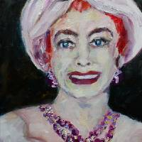 Classic Hollywood Joan Crawford Oil Painting Art Prints & Posters by Ginette Callaway