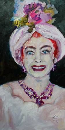 Classic Hollywood Joan Crawford Oil Painting