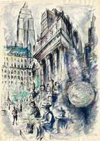 New York City Impression - Watercolor Drawing