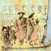 New York City Jews - Fine Art Drawing Art Prints & Posters by Peter Potter