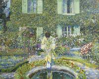 Frederick Carl Frieseke 1874 - 1939 THE GARDEN POO