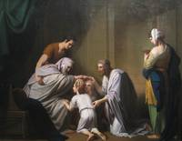 Jacob Blessing Ephraim and Manasseh - Benjamin Wes