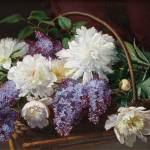 """""""EMMA MULVAD (1838-1903) Still life with lilacs"""" by motionage"""