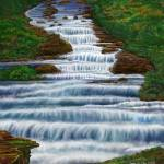 """Waterfall Painting 2016"" by stephenthedigitalartist"