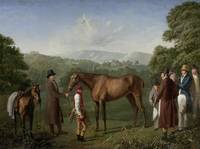 Circle of Jacques-Laurent Agasse - A bay racehorse