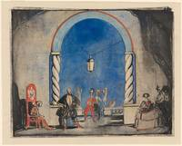 Claud Lovat Fraser 1890-1921 Set Design, 'Much Ado