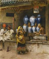 Edwin Lord Weeks, A PERFUMER'S SHOP, BOMBAY