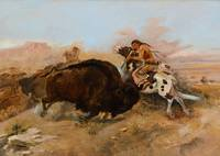 CHARLES M. RUSSELL (1864-1926) Meat for the Tribe