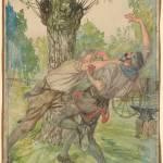 """""""Edmund J. Sullivan 1869-1933 The blow which I stru"""" by motionage"""