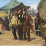 """Fausto Zonaro, 1854 - 1929, ITALIAN, BAYRAM (THE C"" by motionage"