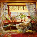 """Charles James Lewis - Reading by the Window"" by motionage"