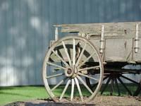 Antique Wooden Wagon Wheel